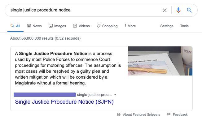 single justice procedure notice